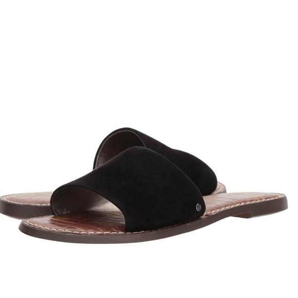 Womens Gio Slide Sandal Black Suede